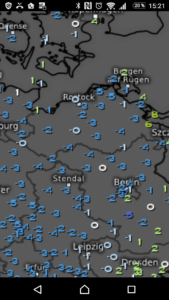 Tiefstemperatur 15.Mai in 5cm